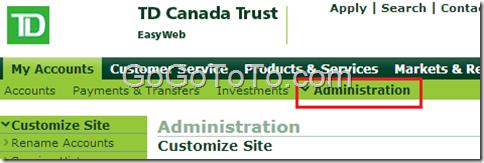 td canadatrust easyweb secure login